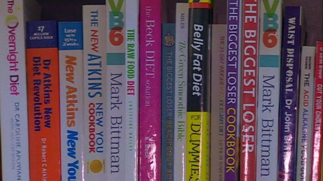 A selection of diet advice books