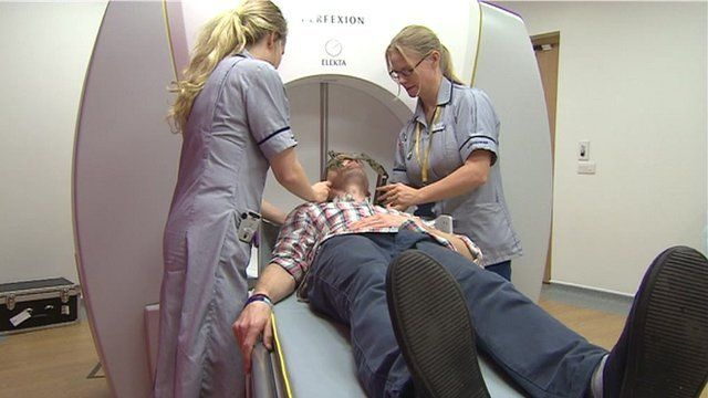 The machine at the Bristol Oncology Centre uses gamma radiation to target tumours
