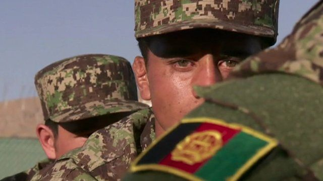 An officer cadet from the military academy in Kabul