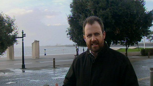 BBC reporter Peter Whittlesea in Dover