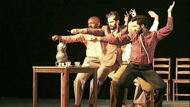 A scene from Theatre Movement Bazaar's production of Uncle Vanya