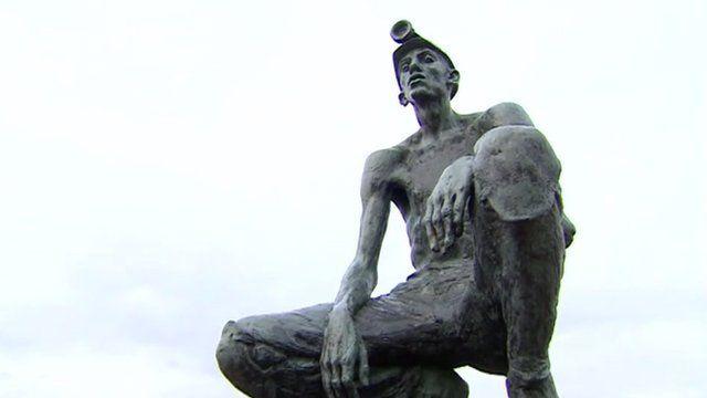 Statue of miner
