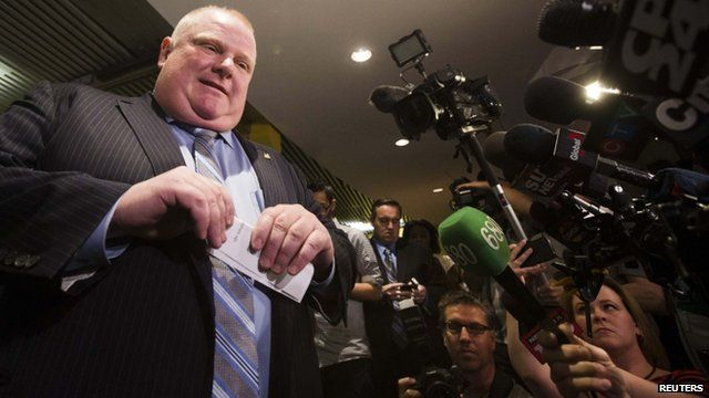 Toronto's Mayor Rob Ford