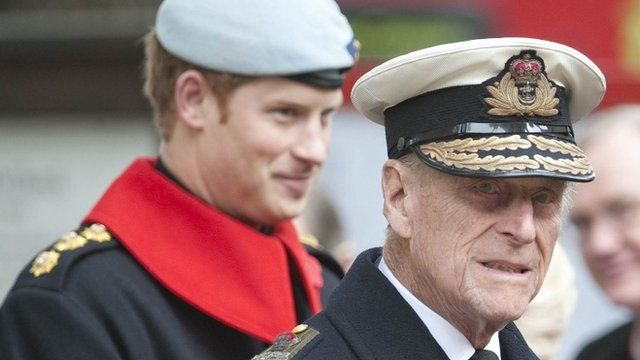 Duke of Edinburgh and Prince Harry