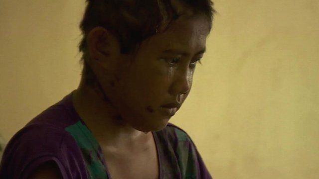 Typhoon victim Rebecca