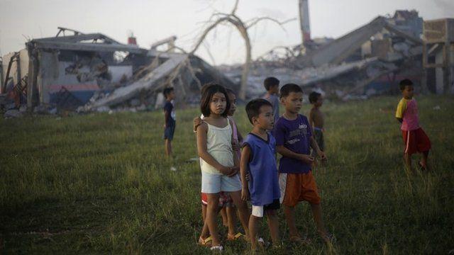 Children in Guiuan