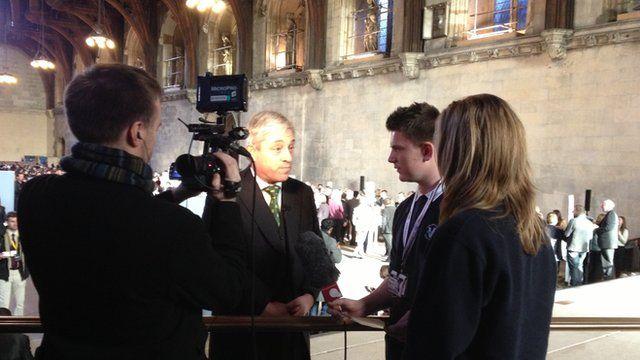 School reporters interview John Bercow.