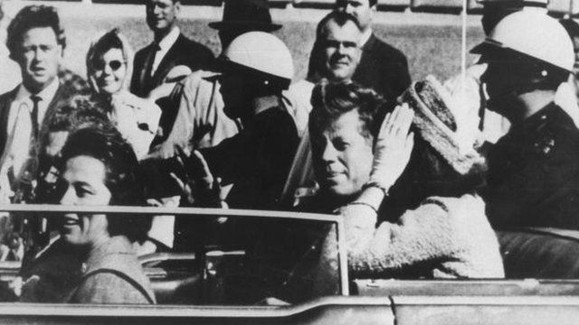 JFK in Dallas shortly before he was shot