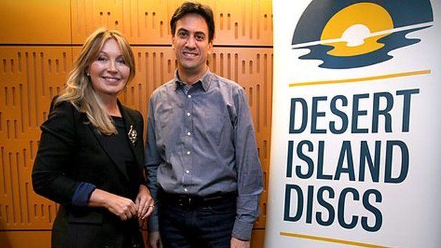 Kirsty Young and Ed Miliband