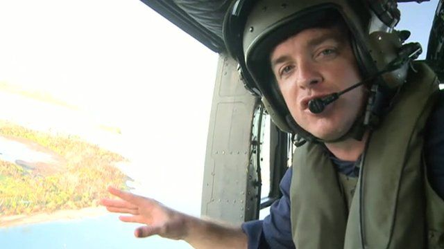 Jonah Fisher in helicopter