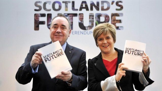 "Scotland""s First Minister Alex Salmond and Deputy First Minister Nicola Sturgeon"