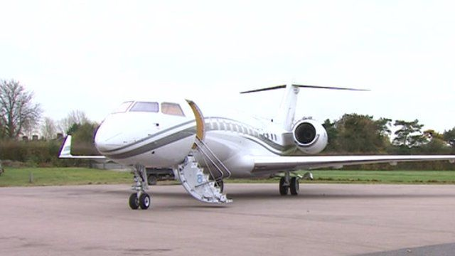 Private jet at London Oxford Airport