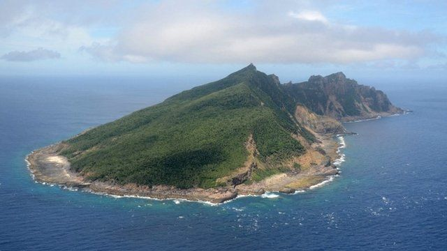 Disputed islands known as Senkaku in Japan and Diaoyu in China