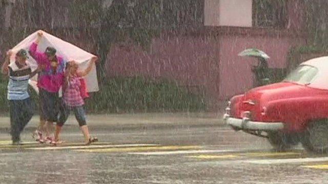Heavy rain in Cuba