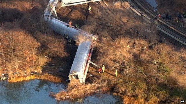 Train derails in New York