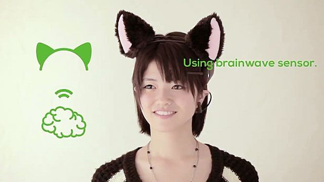 Brainwave cat ear sensors