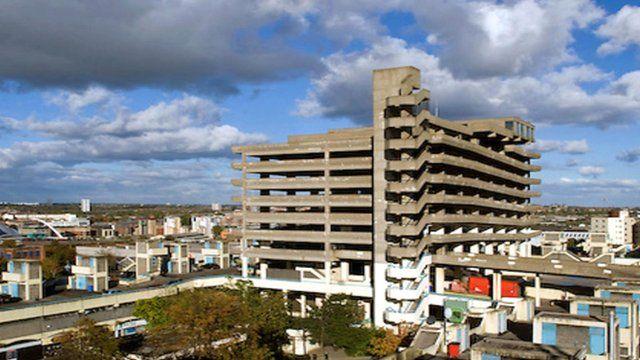 Former Gateshead car park at Trinity Square