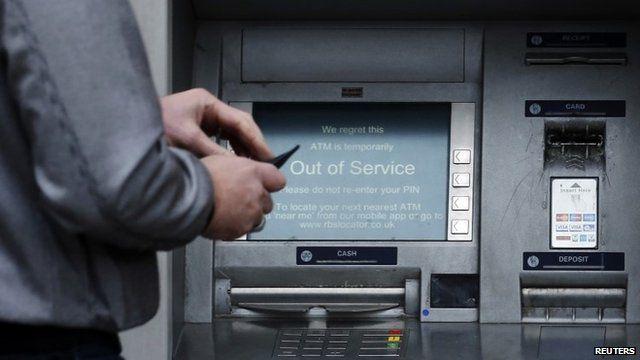 RBS cash machine