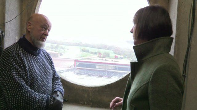 Michael Eavis and Claire Marshall