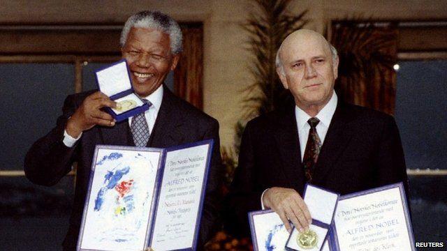 Nelson Mandela and FW de Klerk