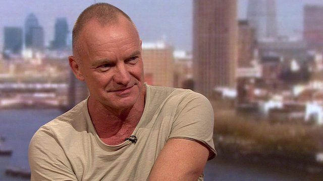 Sting on the Andrew Marr Show