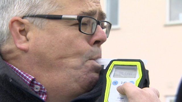 Mike Liggins breathalyser