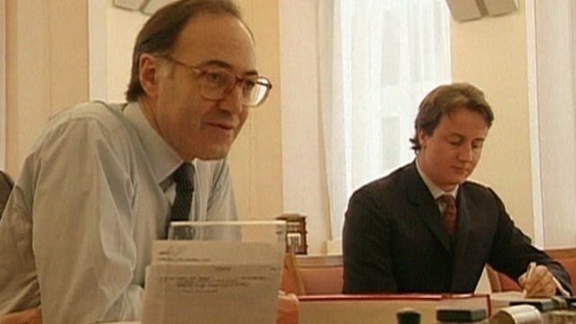Archive image of Michael Howard and David Cameron