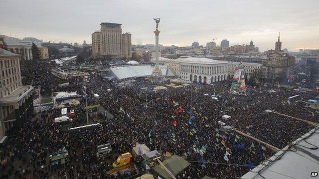 Pro-EU rally in Kiev, 15 December
