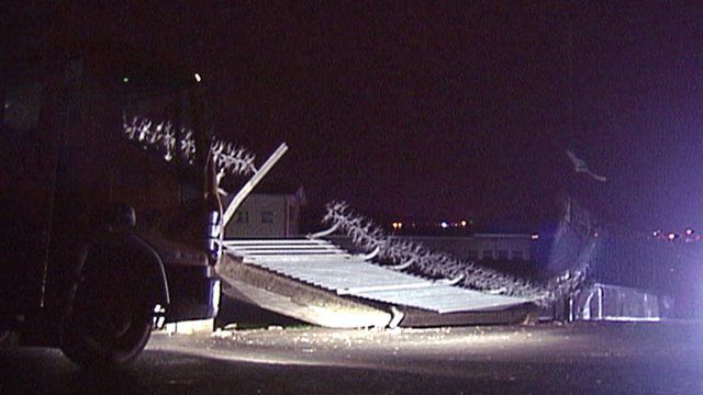 Storm damage in Belfast