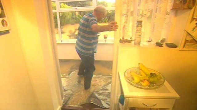 Gordon Coleman's flooded home
