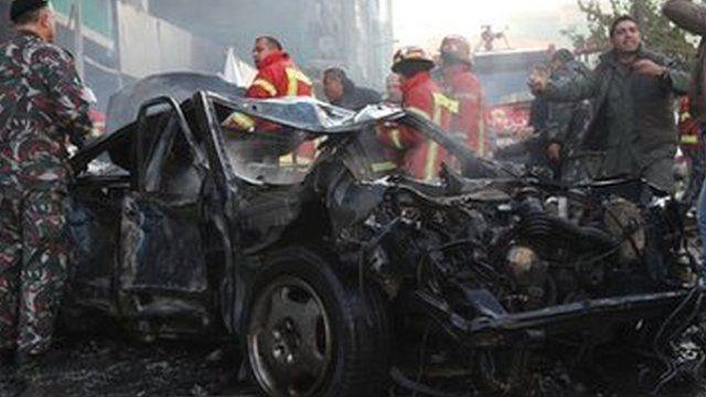 Wrecked car, Beirut