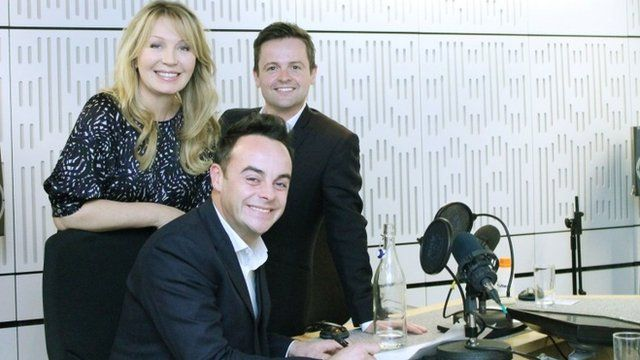 Anthony McPartlin (centre) and Declan Donnelly (right) with host Kirsty Young as they appear on the Radio 4 show Desert Island Discs