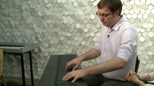 Roland Lamb plays his Seaboard keyboard