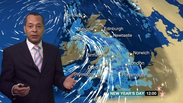 Jay Wynne reporting on the weather