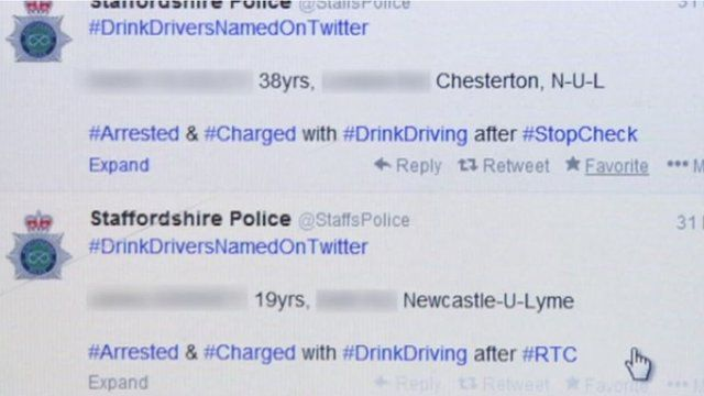 Staffordshire Police Twitter screen
