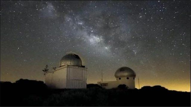 The observatory in Tenerife where the robotic telescope is located