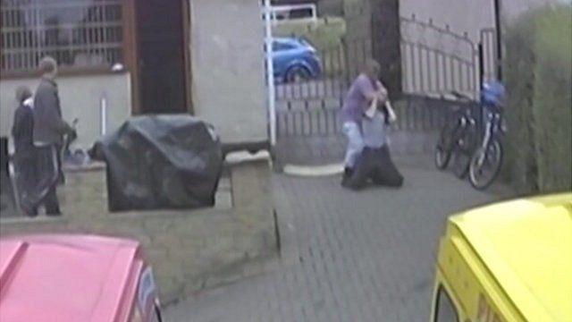 David Rooke attacks Craig Kinsella in the garden of his suburban home