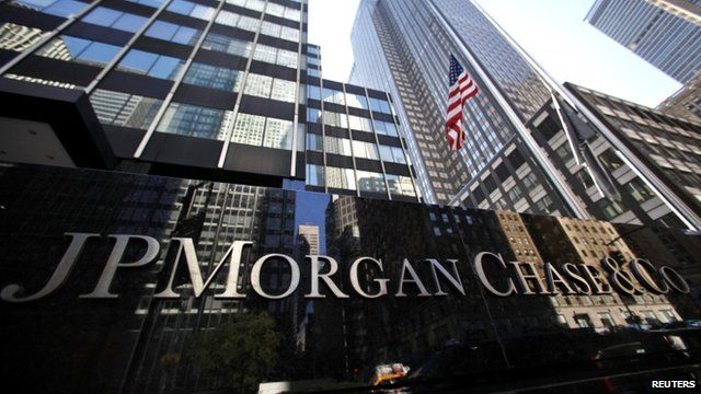 JP Morgan Chase New York headquarters sign