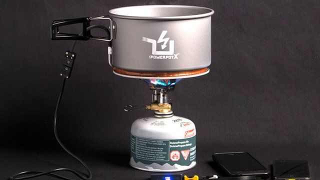 The Power Pot is a saucepan that can charge a smartphone.