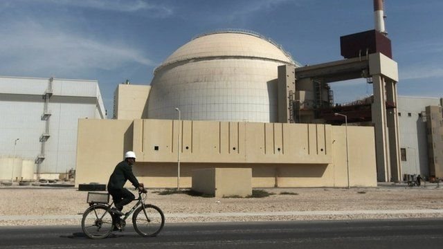 Reactor building of the Bushehr nuclear power plant