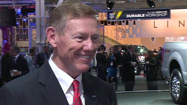 Detroit 39 ford in good shape 39 says ceo alan mulally bbc for Ford motor company alan mulally