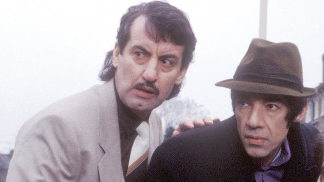 John Challis as Boycie and Roger Lloyd Pack as Trigger