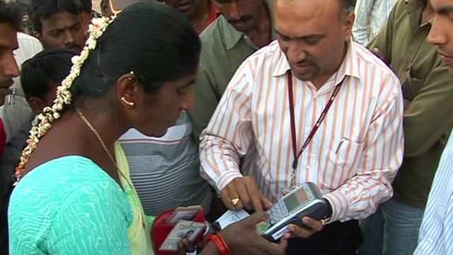 Mobile bank machine in India