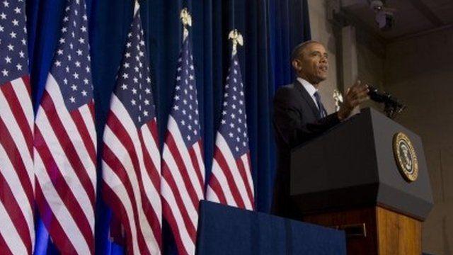 Barack Obama making speech