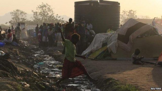 The town of Bor, South Sudan