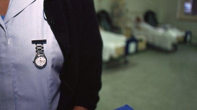 A nurse working a night shift