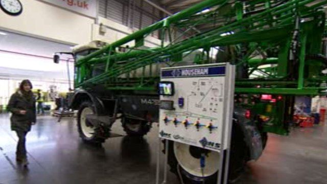 Hi-tech farming machinery show