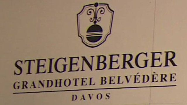 Sign for Steigenberger Grandhotel Belvedere Davos
