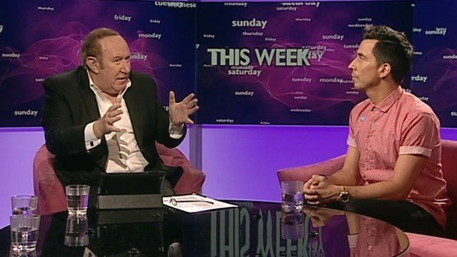 Andrew Neil and Russell Kane