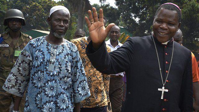 Archbishop of Bangui Nzapalainga, and Imam Layama